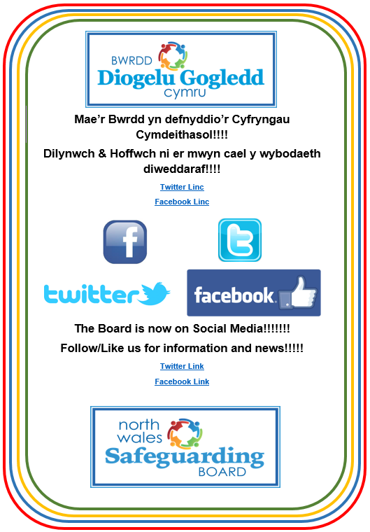 North Wales Safeguarding Board Social Media Poster