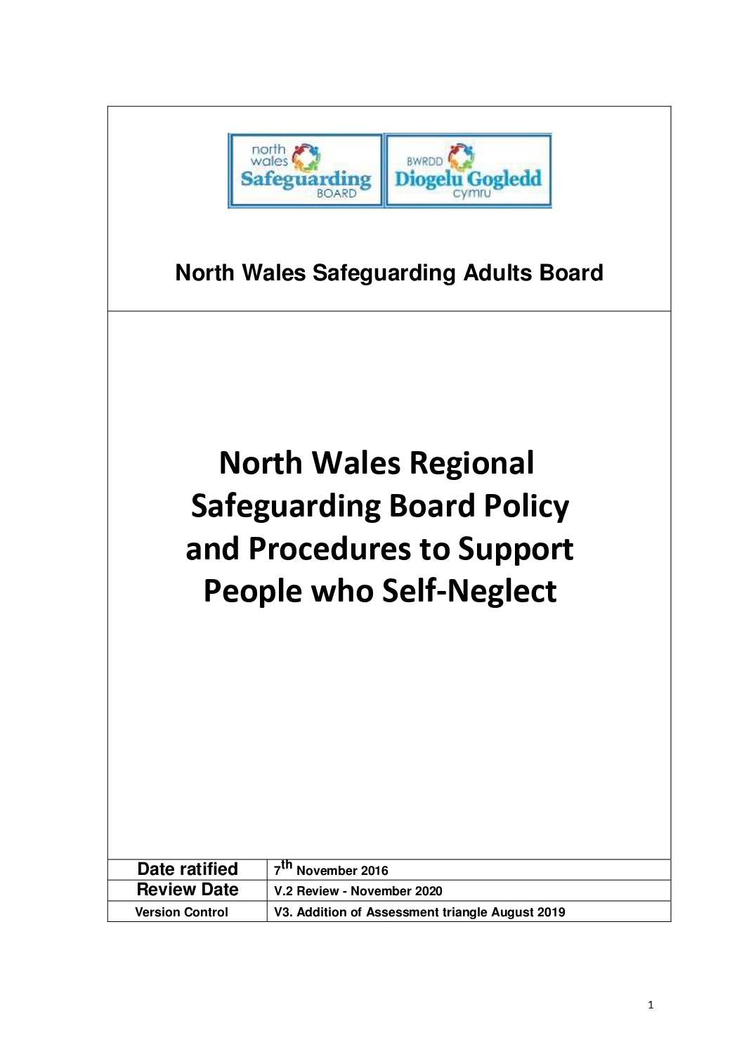 North Wales Self Neglect Policy and Procedure