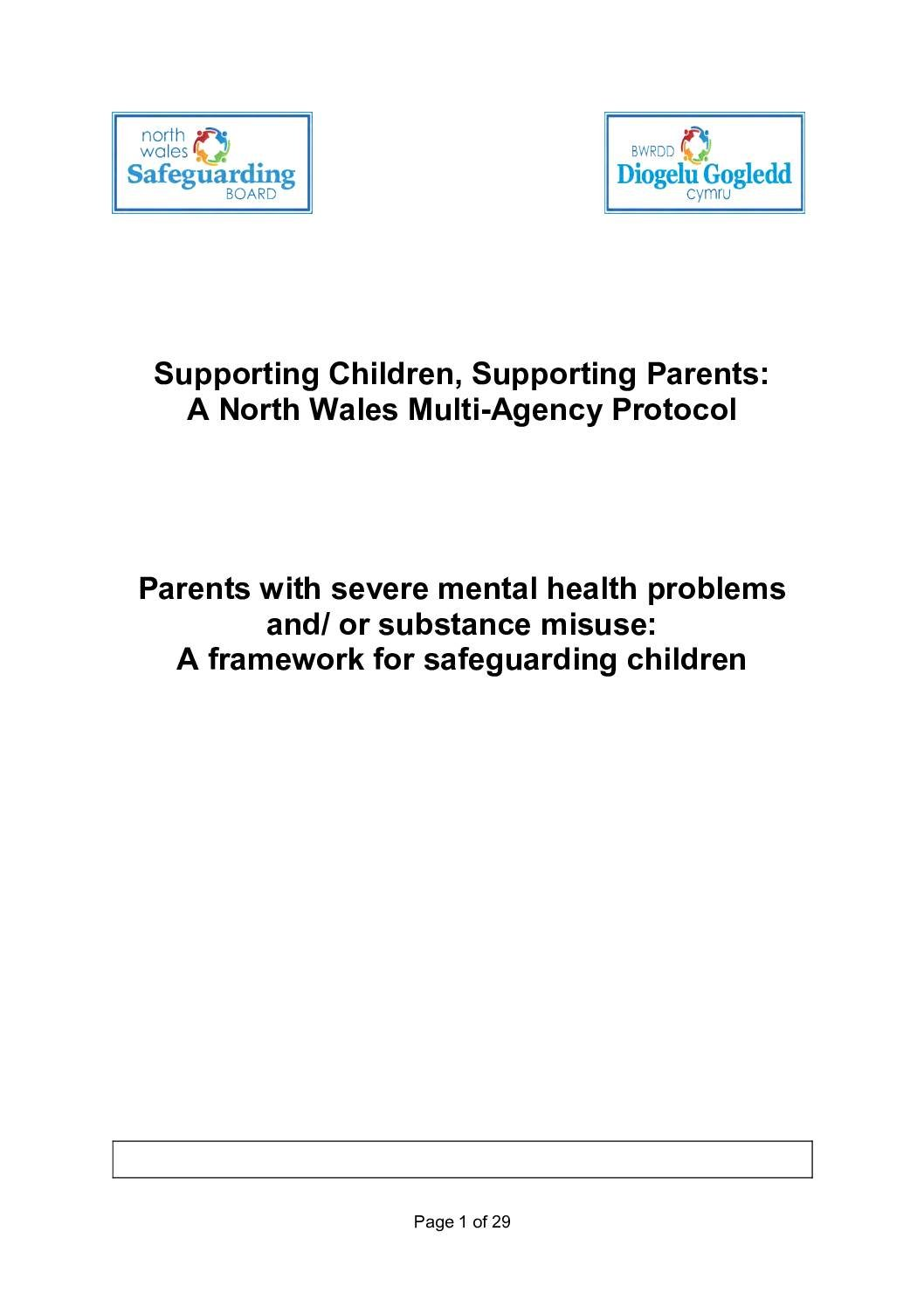 Supporting Children, Supporting Parents: A North Wales Protocol
