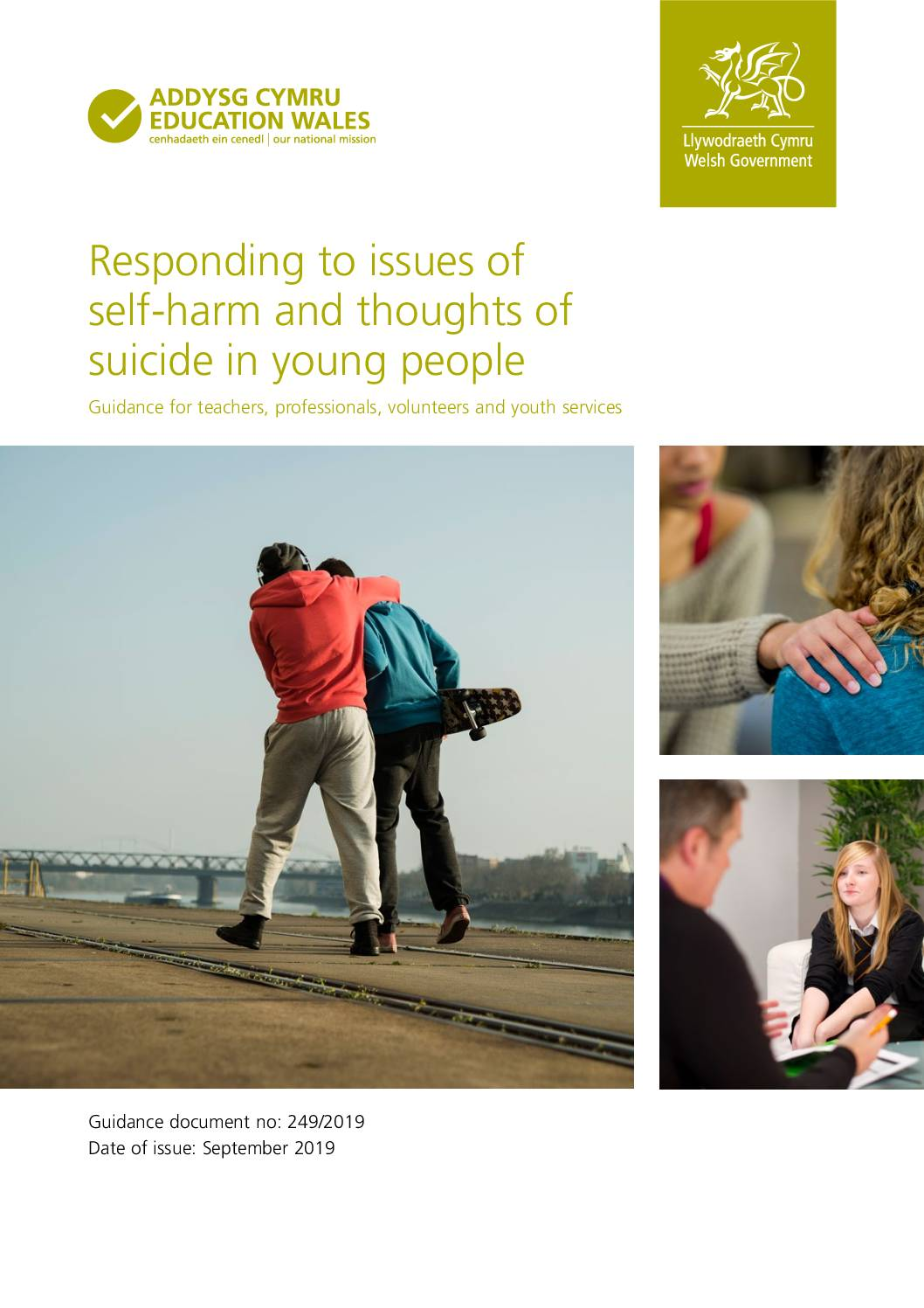 Responding to issues of self-harm and thoughts of suicide in young people