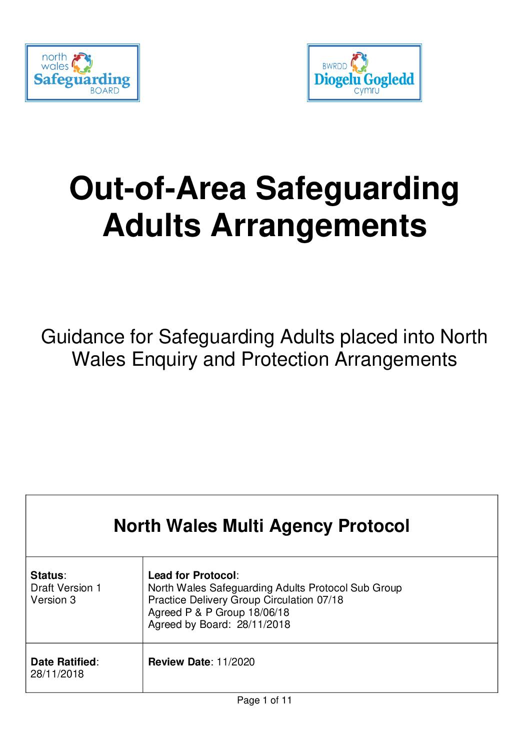 North Wales Out of Area Safeguarding Adults Arrangements