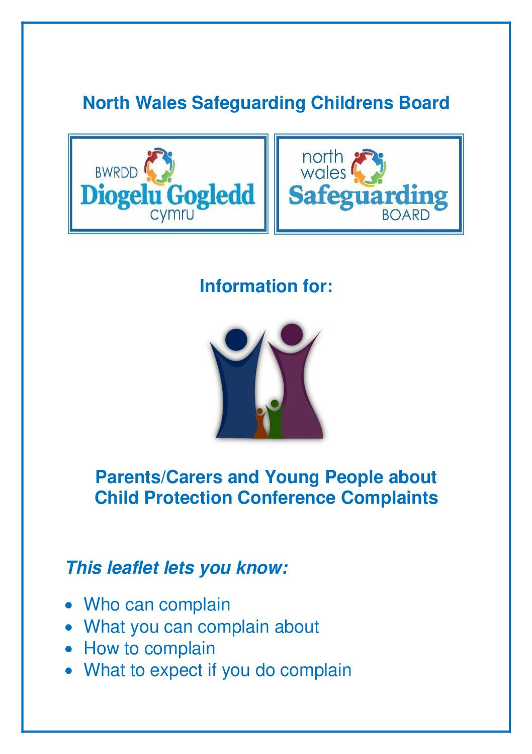 Information in relation to Child Protection Conference Complaints