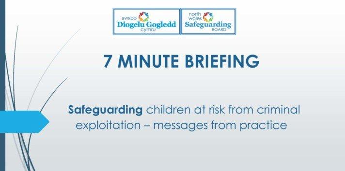 Safeguarding Children at risk from criminal exploitation