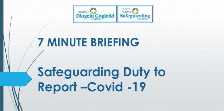 Title Page - safeguarding duty to report - Covid19