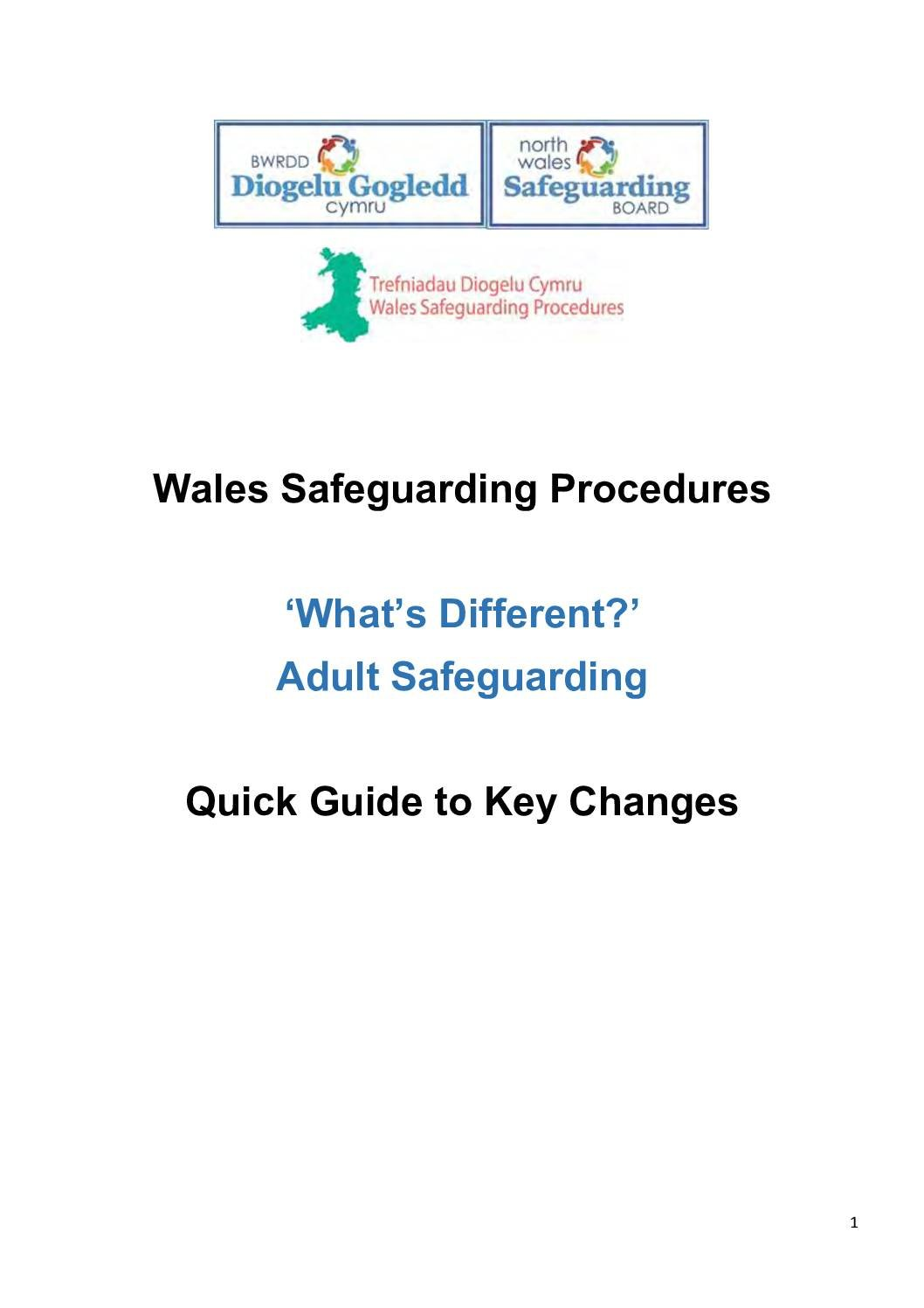 Wales Safeguarding Procedures – What's Different? -Adult Safeguarding Adults