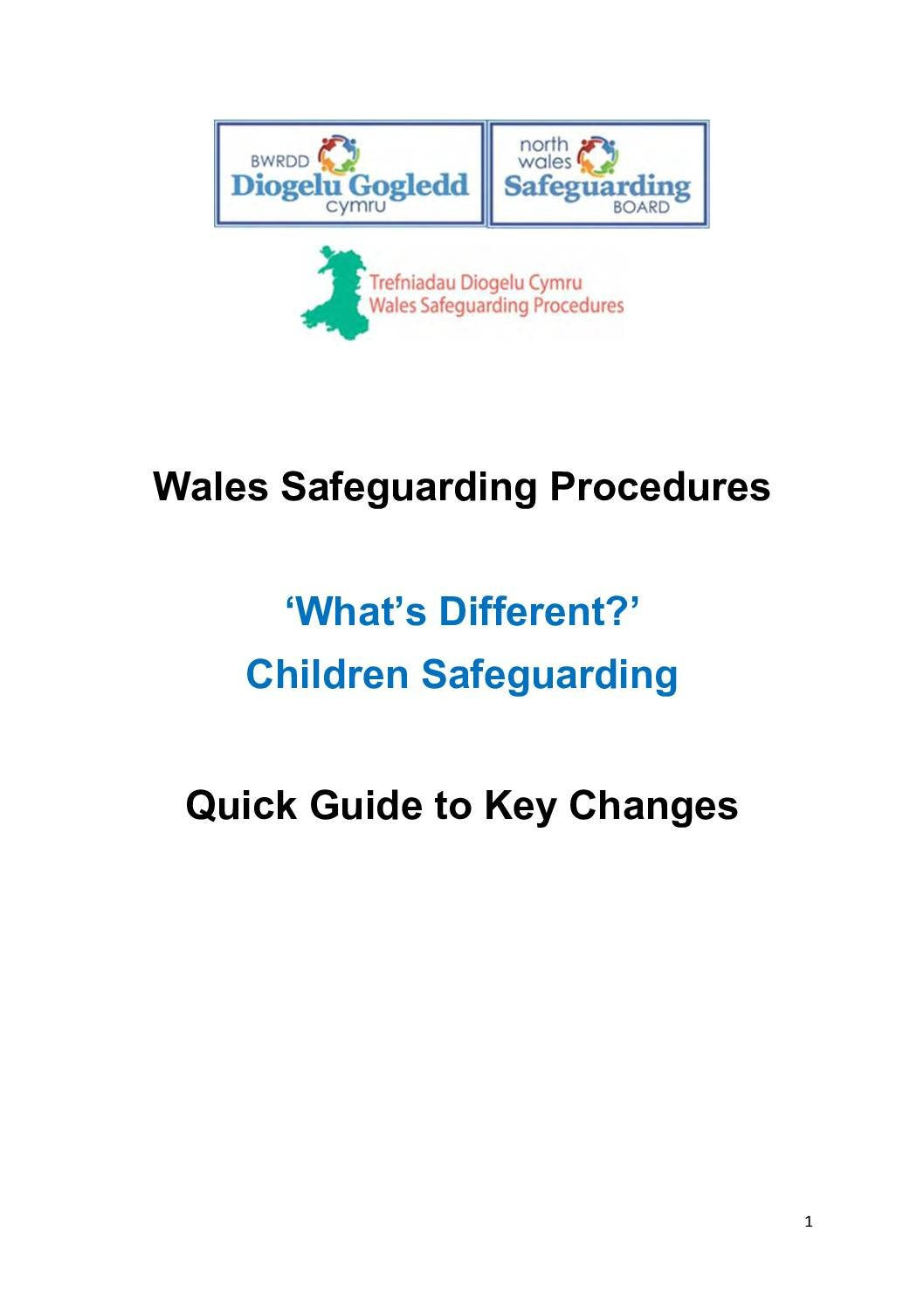Wales Safeguarding Procedures – 'What's Different?' Children Safeguarding