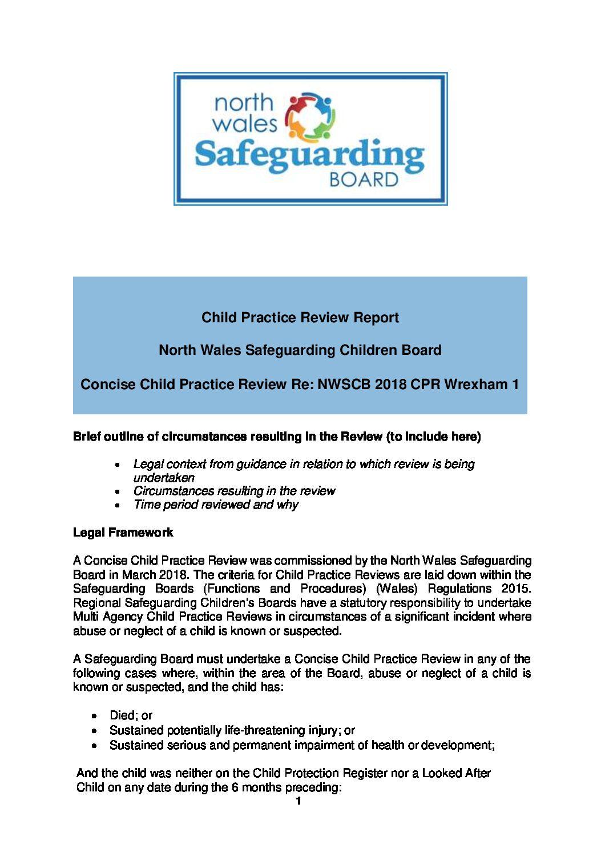 NWSCB Child Practice Review Wrexham 1 2018