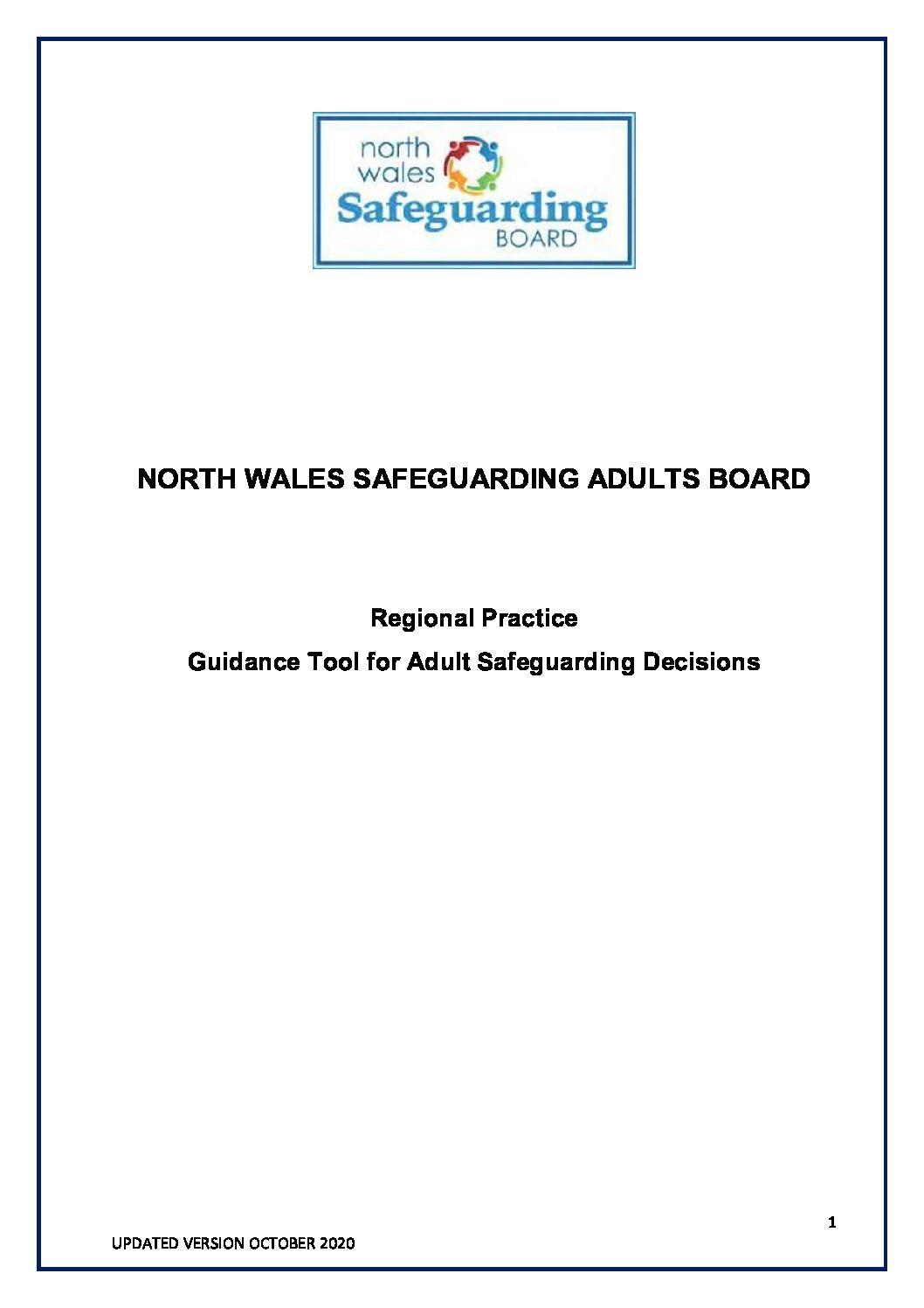 NWSAB Guidance Tool for Adult Safeguarding