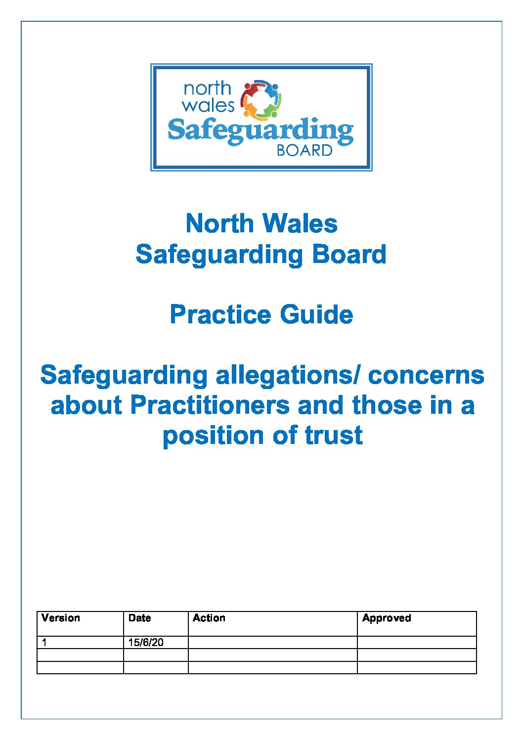NWSB Safeguarding Allegations Concerns about Practitioners and Those in a position of trust