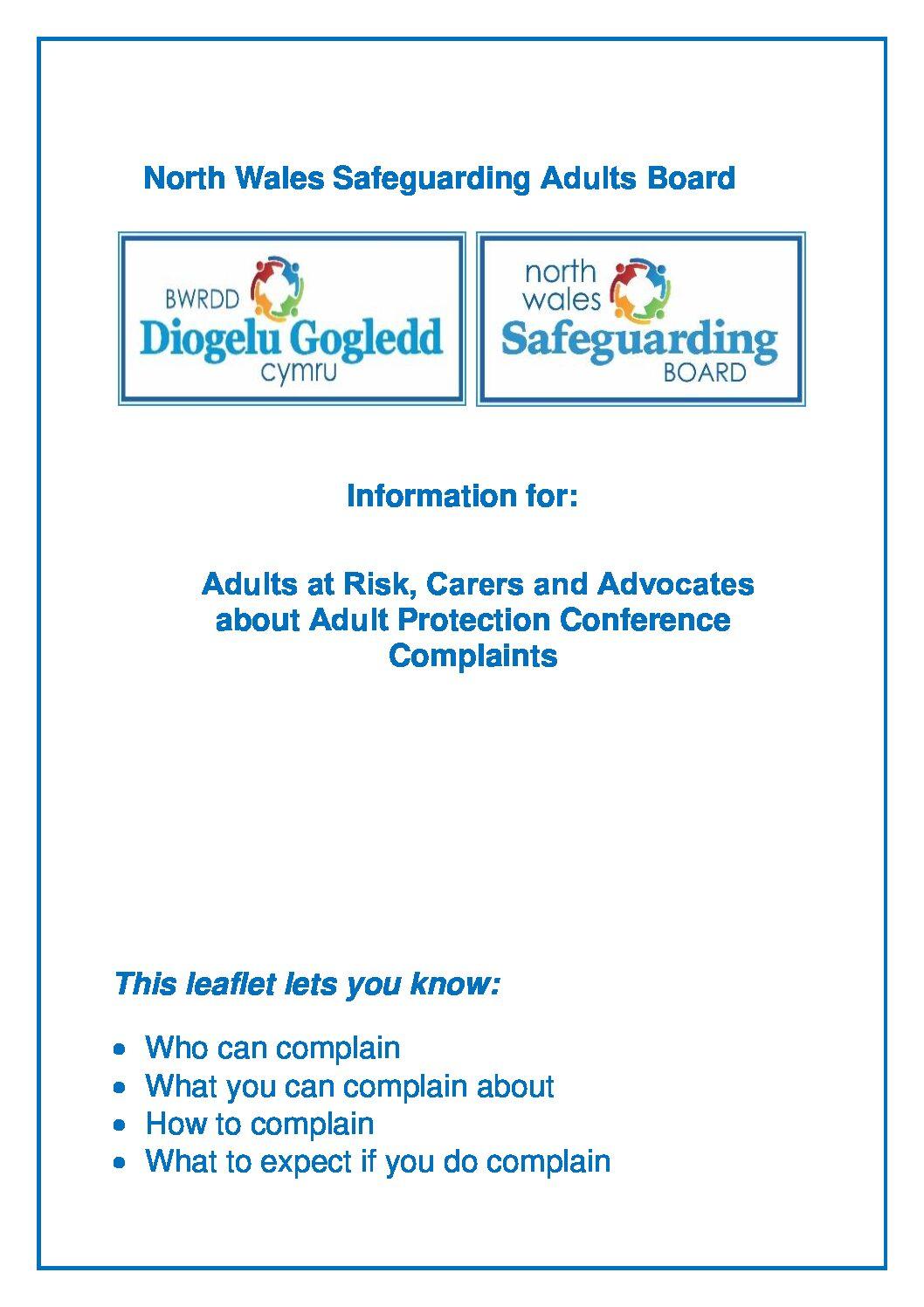 NWSAB Management of Complaints Practice Information leaflet.