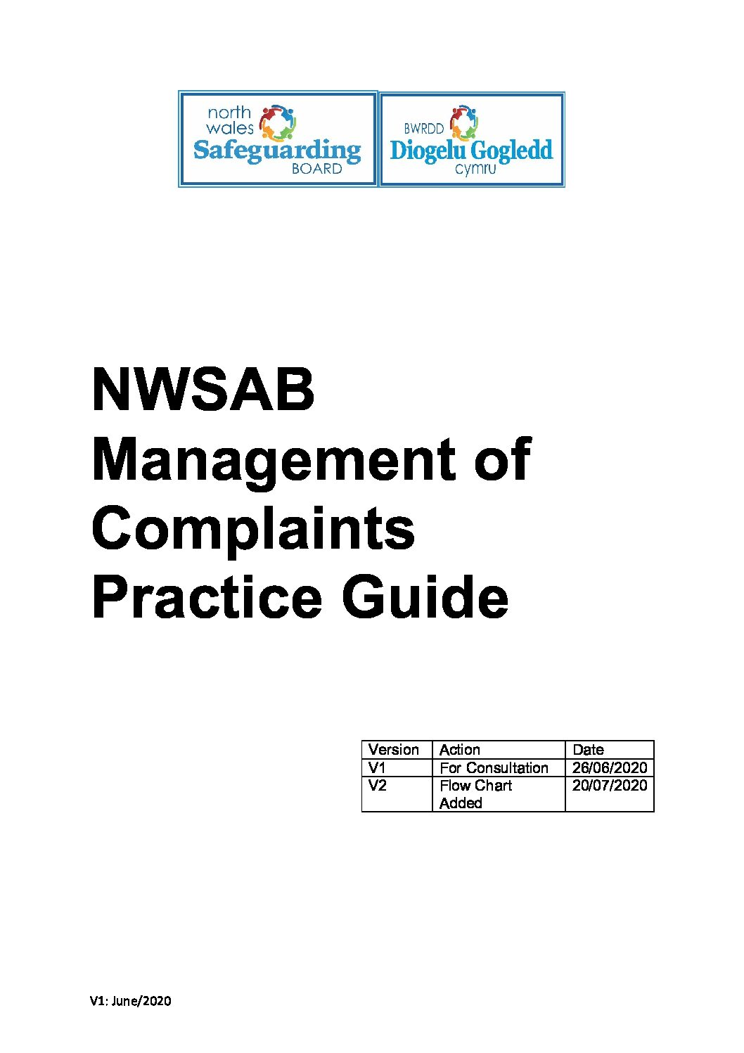 NWSAB Management of Complaints Practice Guide