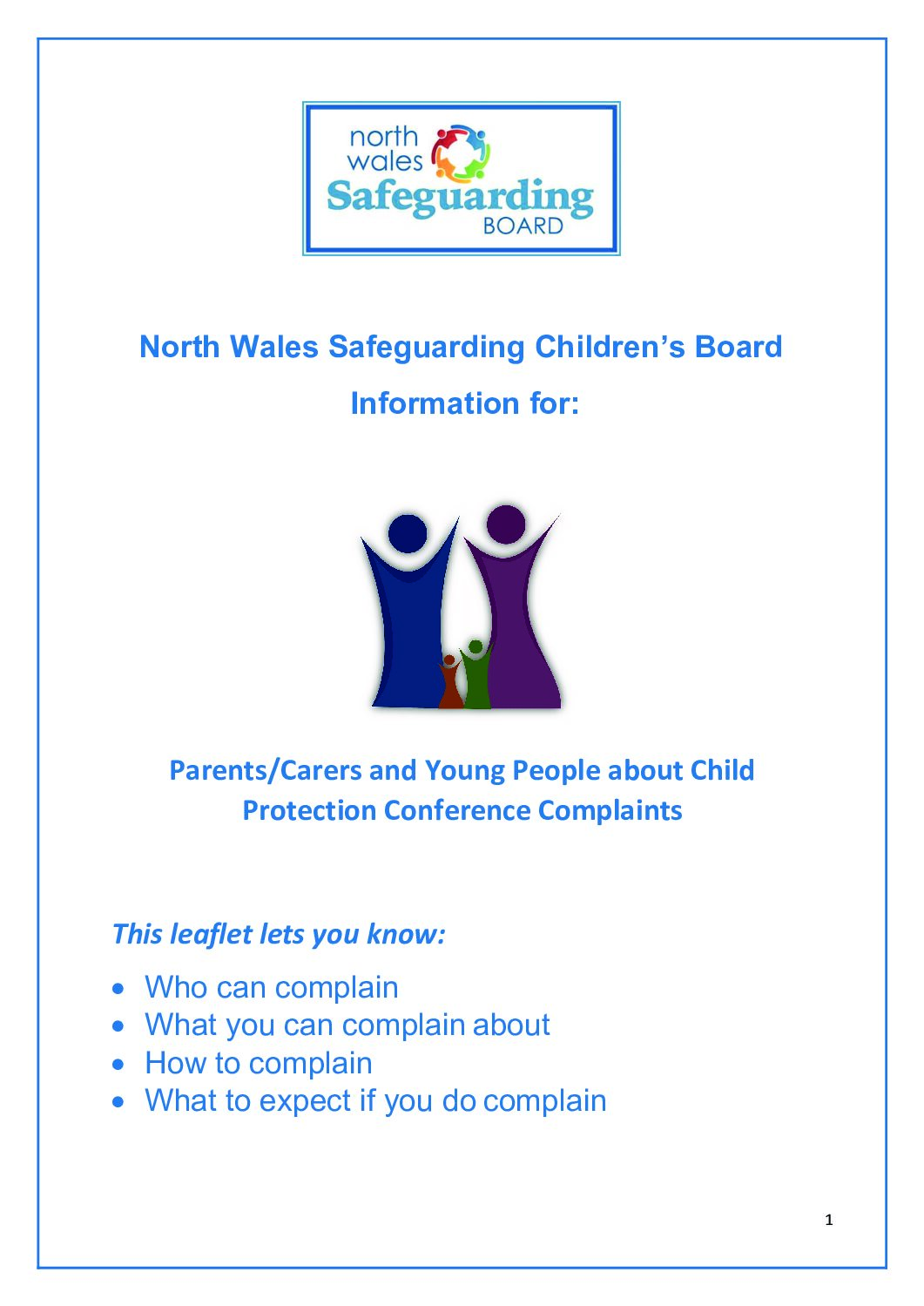 NWSCB Information for Parents/Carers and Young People about Child Protection Conference Complaints