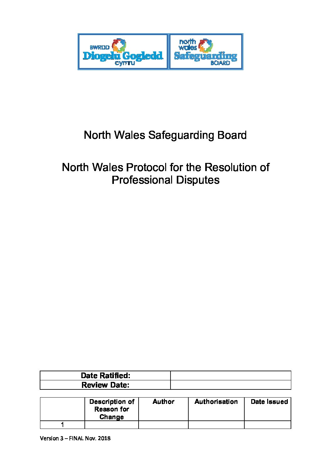 North Wales Protocol for the Resolution of Professional Differences